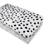 Changing Pad Cover / Cradle Sheet Set I Black and White Abstract