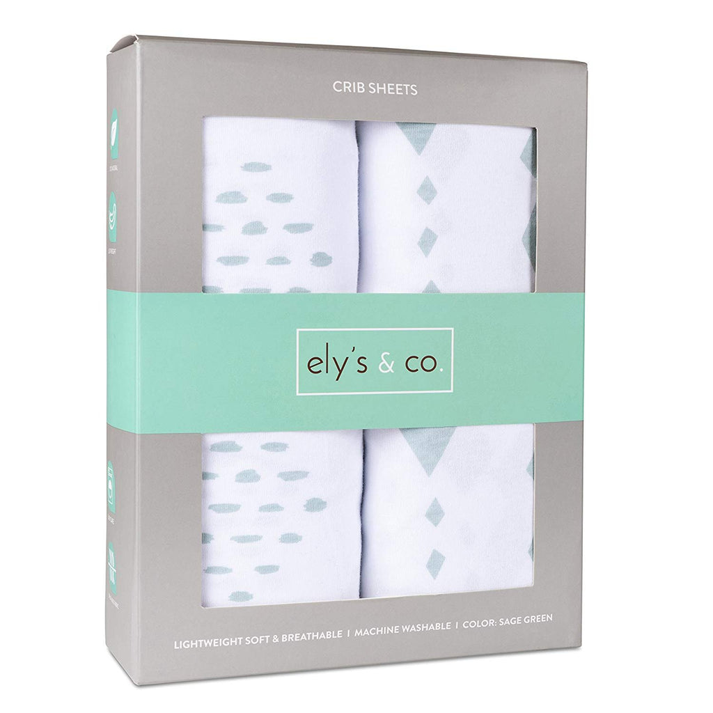 Crib Sheet Set I Sage Diamond