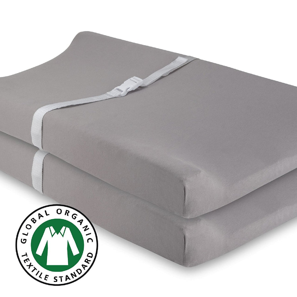 Organic Changing Pad Cover Set I Grey