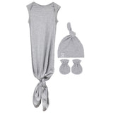 Knot Wearable Blanket | Knot Hat | Mitten Set - Heather Grey