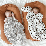 Cotton Muslin Swaddle Blanket I B&W Abstract Combo - 3 Pack