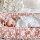 Cotton Muslin Swaddle Blanket - Pink Pin Dot