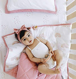 Four Piece Baby Crib Set I Dusty Pink Rainbow