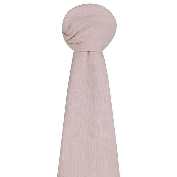 Cotton Muslin Swaddle Blanket - Rosewater Pink 1