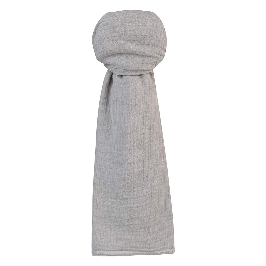 Cotton Muslin Swaddle Blanket -Silver Grey