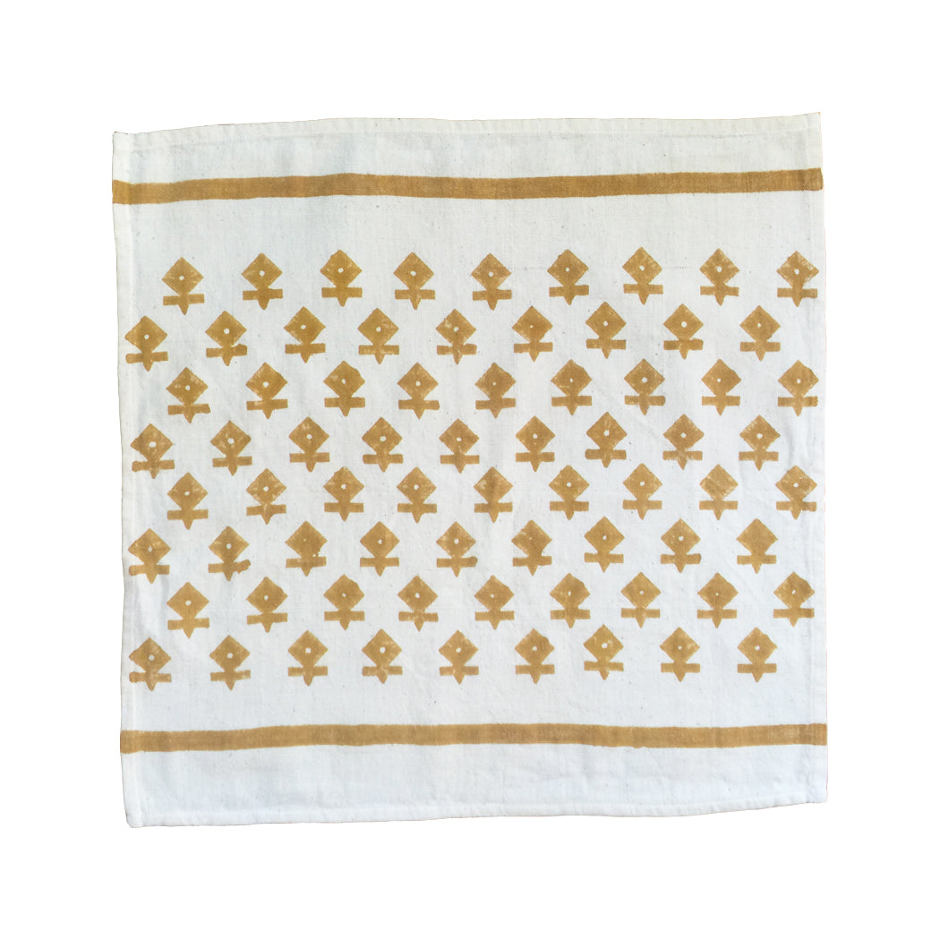 Handblock printed on handwoven cotton (khadi), these napkins are easy to clean and durable while adding a bright pop of color to any table.