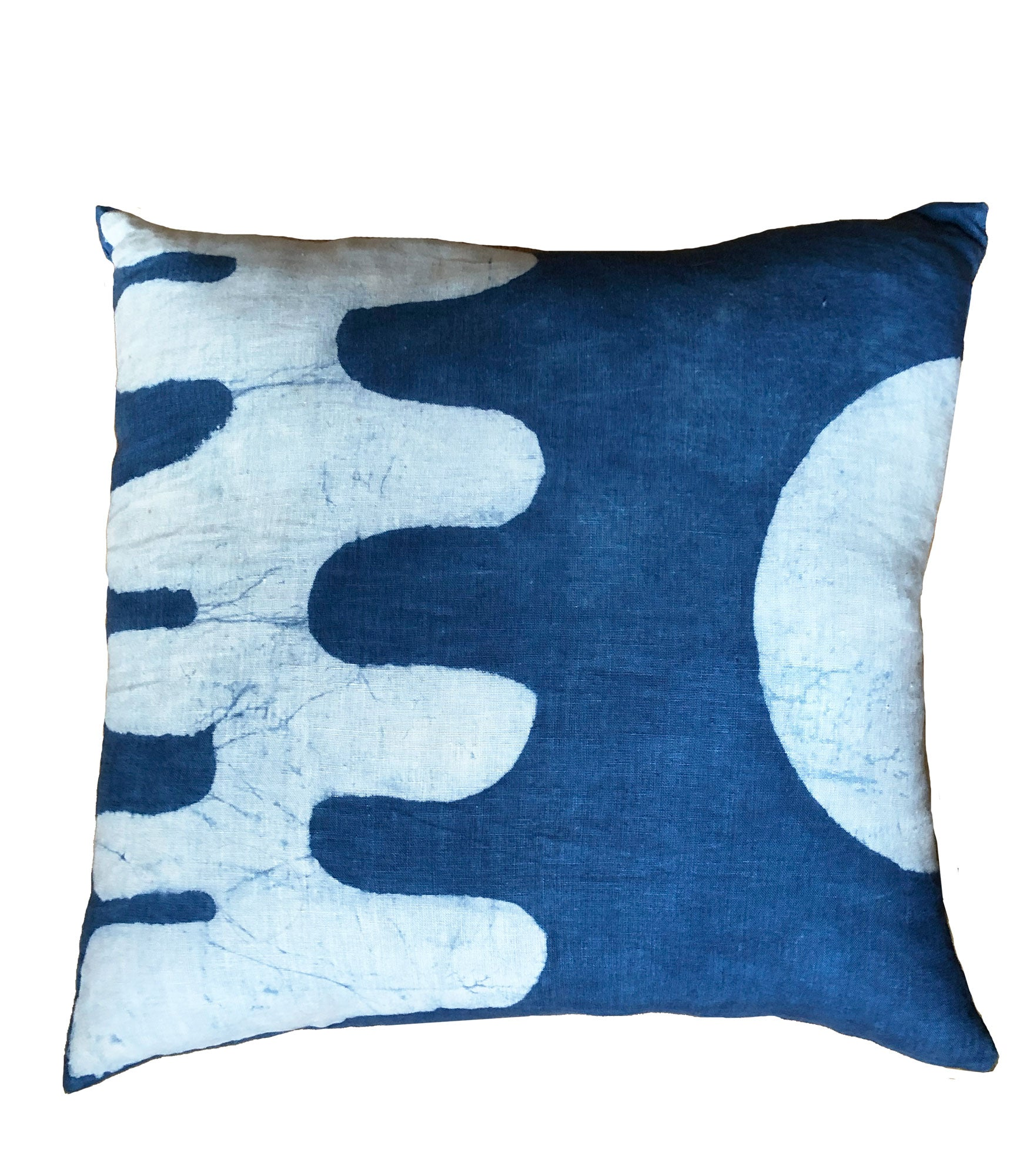 Heron Pillow in Indigo