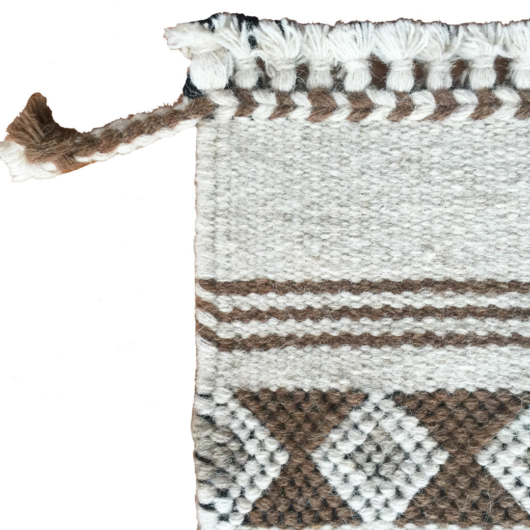 Desert inspired neutral wool rug