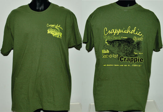 Crappieholic Tee Shirt Fillet It Design