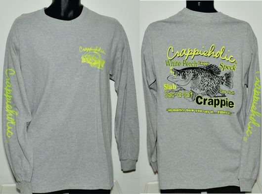 Long Sleeve Crappieholic  Fillet Design