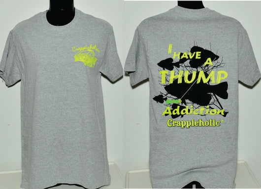 Crappieholic Thump Design Tees