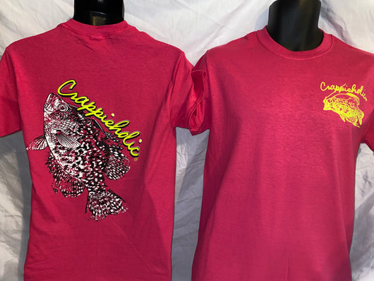 Crappieholic Big Fish Pink Tee
