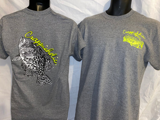 Crappieholic Big Fish Graphite Tee