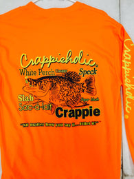 Crappieholic Long Sleeve Fillet Design Tee