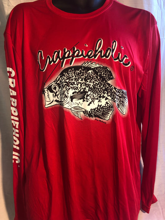 Crappieholic Dri Fit long Sleeve
