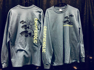 Crappieholic NEW school Long Sleeve Tee