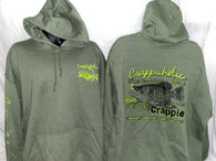 Crappieholic Hoodie Military green Fillet It