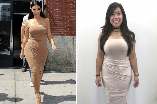 Here's how to get Kim Kardashian's iconic bodycon look using convertible fashion!