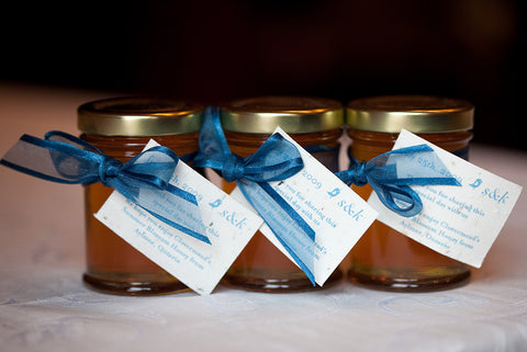 Sonia Dong chose to gift small jars of honey from Clovermead, a farm in Southern Ontario as wedding favours instead of something that could potentially get thrown out.