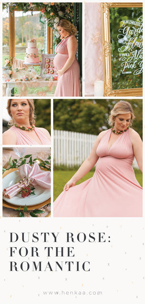 Henkaa Dusty Rose Wedding Dress