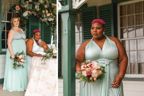 2020 Wedding Trend Report: Neo Mint Henkaa Convertible Dresses 2020 colour of the year, is vibrant, energetic and fresh, perfect for 2020 weddings