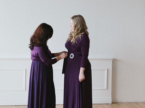 Henkaa Iris Convertible Dress the convertible dress with sleeves perfect for bridesmaids, winter weddings, choirs, and mother of the bride and groom.
