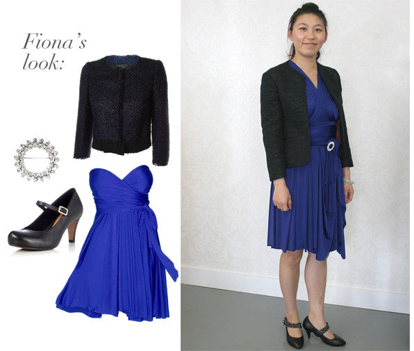 Find out how to style a convertible dress with a blazer for the perfect office outfit