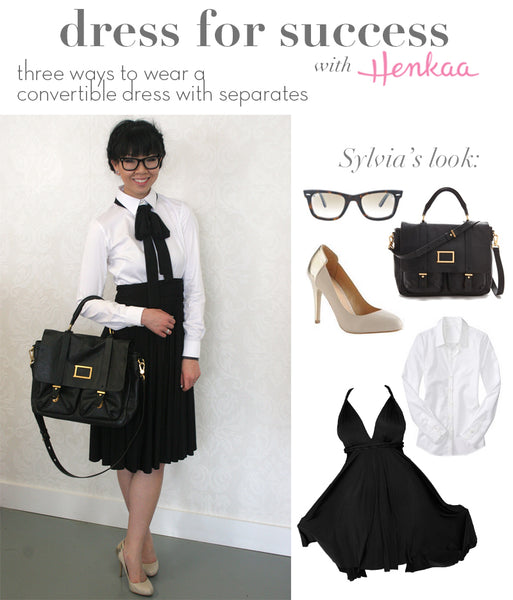 three ways to wear a convertible dress for work - convertible dress