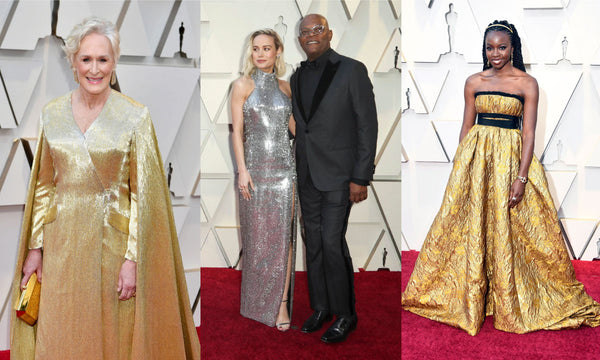 Mettalic dresses at the 2019 Oscars trends