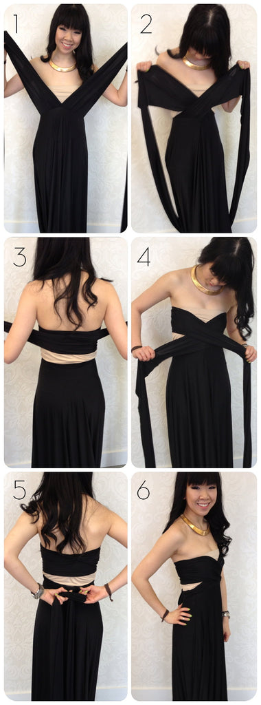 Alexandria style infinity dress - new way of tying infinity dress - how to get a cutout look with a convertible dress