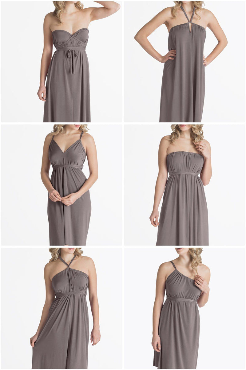 Convertible Dress - Ivy Maxi Convertible Spaghetti Strap Dress - Clearance Colours