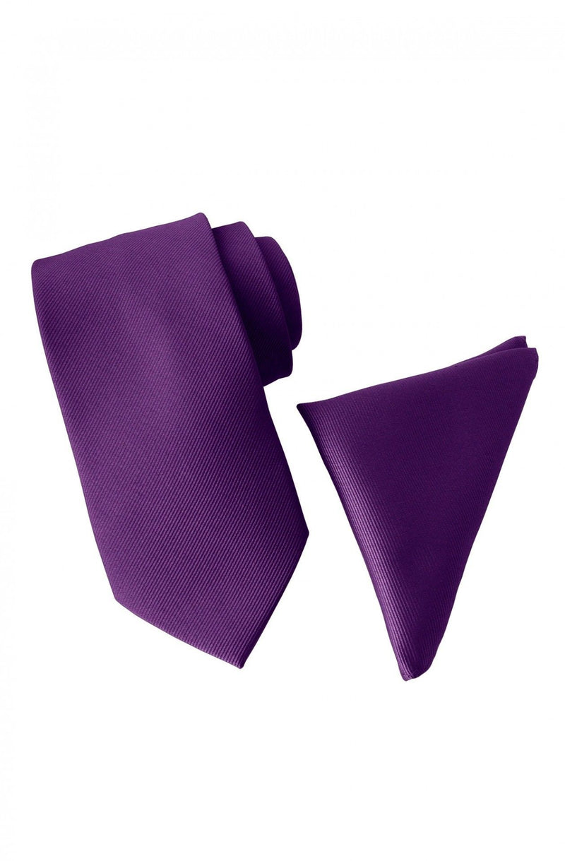 Men's - Tie & Pocket Square Set - Textured - Clearance