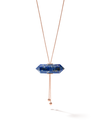 528 by CfH - Gliding Crystal Double Point Necklace - Lapis - 18K Rose Gold Vermeil - Close Up