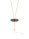 528 by CfH - Gliding Crystal Double Point Necklace - Smoky Quartz - 18K Rose Gold Vermeil - Close Up