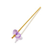 Angle Image of AMETHYST Crystal Straw - Yellow Gold Finish by Crystals for Humanity