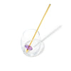 AMETHYST Crystal Straw - Yellow Gold Finish by Crystals for Humanity shown in a Drinking Glass