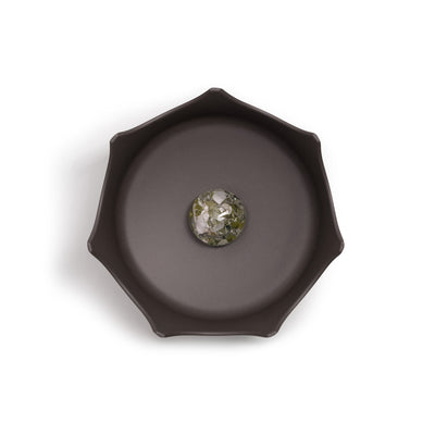 Slate Gray Gem-Water Pet Bowl by VitaJuwel