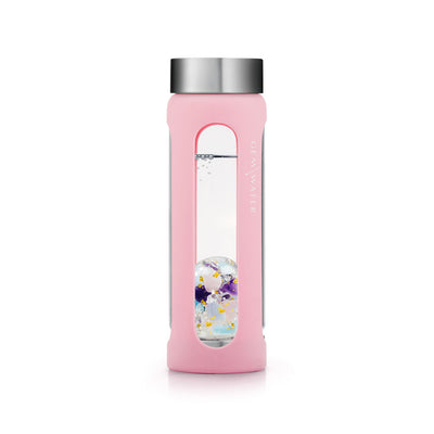 Gem-Water Peekaboo Sleeve - PINK on Miss Unicorn Bottle Straight