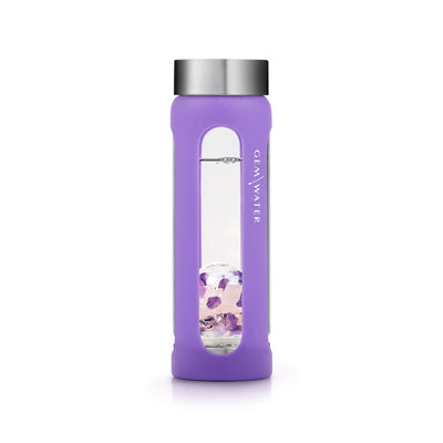 Gem-Water Peekaboo Sleeve - PURPLE on Wellness Bottle Straight