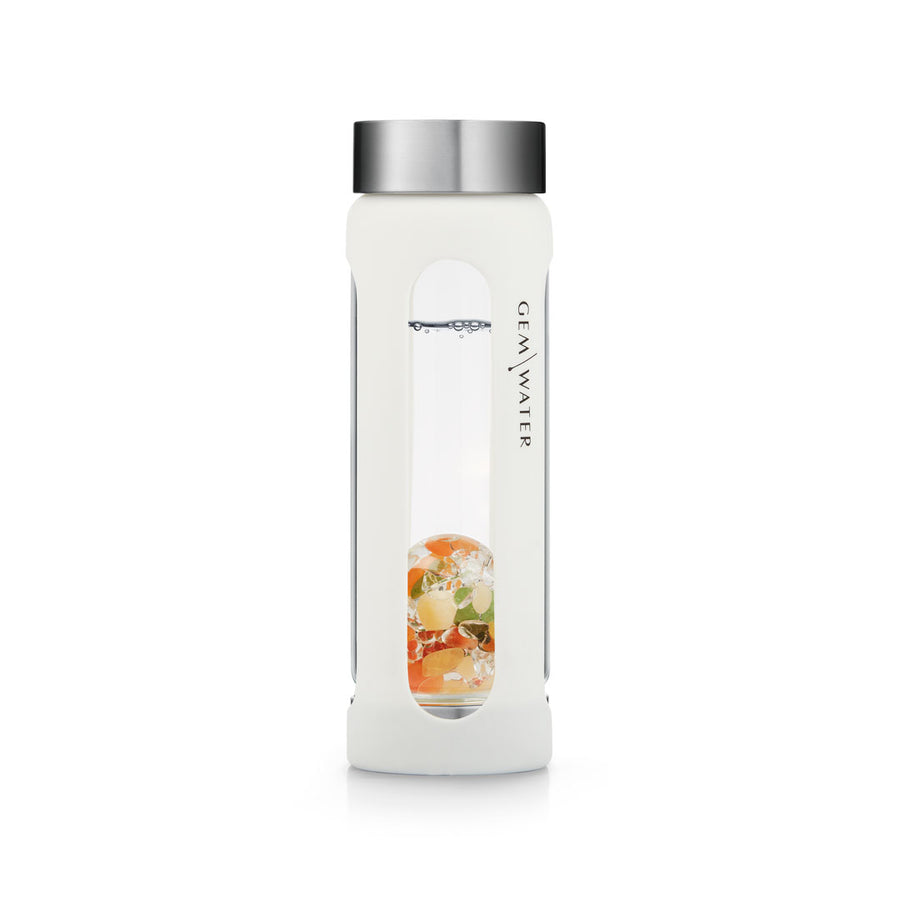 Gem-Water Peekaboo Sleeve for VitaJuwel Bottle - WHITE
