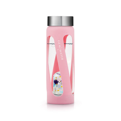 Gem-Water Peekaboo Sleeve - PINK on Miss Unicorn Bottle Twisted