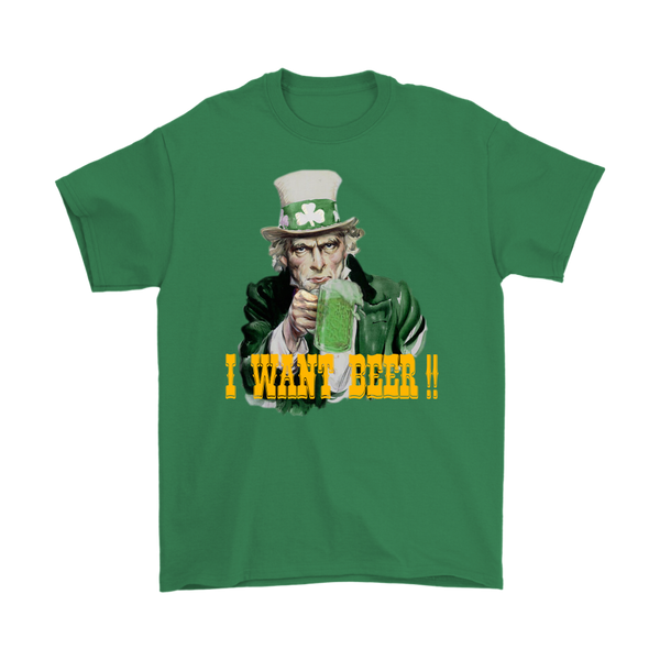 UNCLE SAM PATRICK'S I WANT BEER TEE