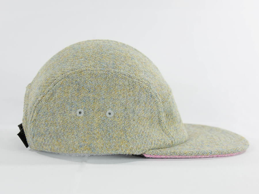 Eggshell with Pink Underbill Harris Tweed Camper Hat - Break North