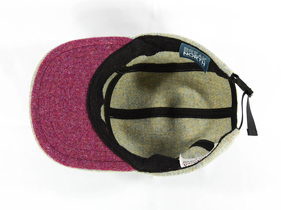 Eggshell with Raspberry Underbill Harris Tweed Camper Hat - Break North