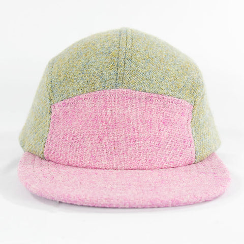 Pink Over Eggshell Harris Tweed Camper Hat - Break North