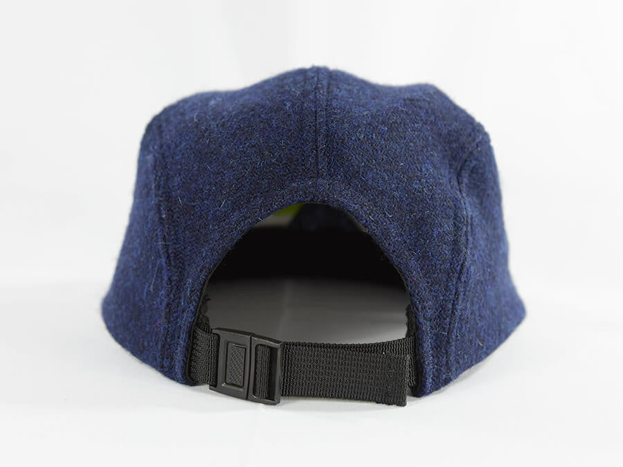 Navy with Eggshell Blue Underbill Harris Tweed Camper Hat - Break North