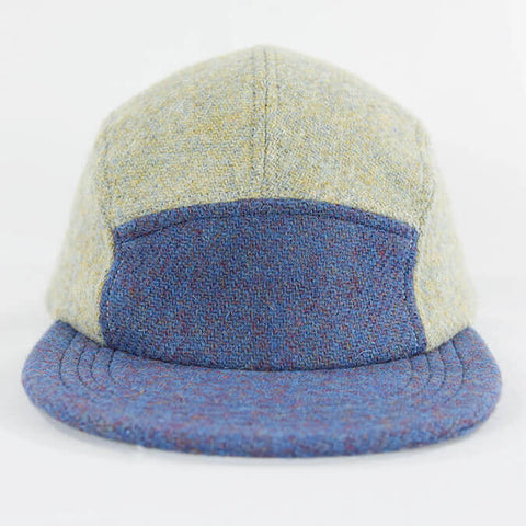 Blue Over Eggshell Harris Tweed Camper Hat - Break North