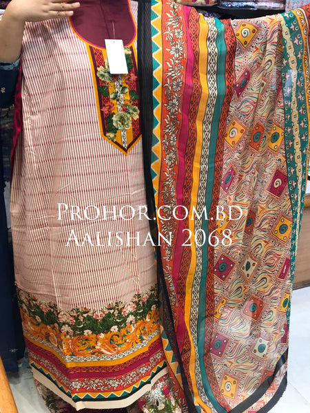 Aalishan Cotton Lawn ID02068 (Pakistani)