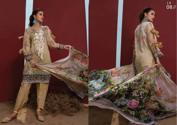 Firdous Cotton Embroidered Lawn ID02043 (Pakistani)