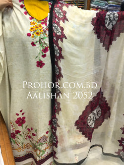 Aalishan Cotton Lawn ID02052 (Pakistani)